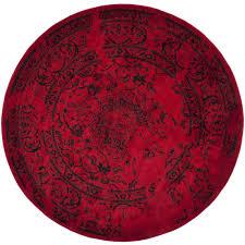 Black Circle Rug Safavieh Adirondack Vintage Red Black Rug 6 U0027 Round Adr101f 6r