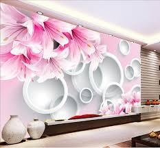 wallpaper bunga lingkaran online shop grosir tulip bunga mural pink lingkaran dinding mural