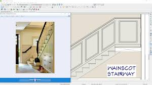 Wainscot America Designing A Wainscot For A Stairway Youtube