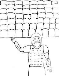 bible story coloring page for joshua and the fall of jericho