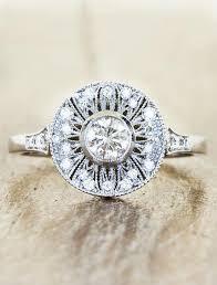 vintage halo engagement rings aurelia antique halo engagement ring ken design