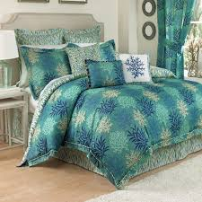 breezy atmosphere in bedroom with 3 coastal bedding collections