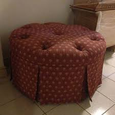 Diy Reupholster Ottoman by Diy Mission Upholstering A Round Tufted Ottoman Made At Home By