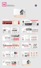 company profile landscape template adobe indesign template