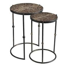 what are nesting tables mosaic gold nesting tables pier 1 imports