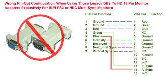 cga rgb db9 to hd 15 pin vga adapter cable