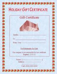 christmas gift certificate template free word templates
