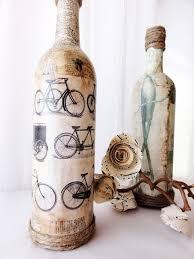 les bicyclettes vintage bottle vase unique home decor bottle