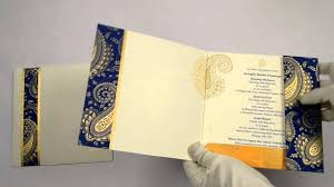 Invitation Cards For Wedding Designs Rp6806 Blue Color Designer Multifaith Invitations Indian