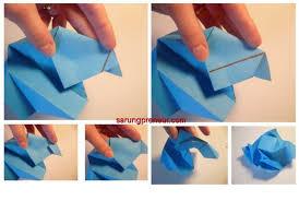 cara membuat bunga dengan kertas hias cara membuat origami bunga mawar sarungpreneur