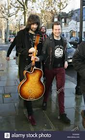 sergio pizzorno and tom meighan of kasabian leaving fearne
