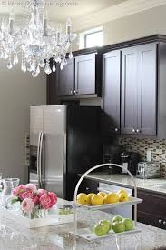 the perfect shades of greige espresso cabinets pewter and