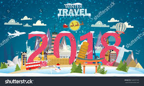 travel merry images Winter travel 2018 travel world vacation stock vector 2018 jpg