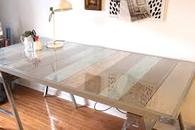 paint glass table top furniture diy sawhorse desk and reading l with reclaimed wood