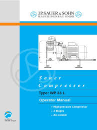 sauer compressor type wp 33 l operator manual gas compressor