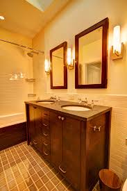 Craftsman Bathroom Lighting Vanity Lights Bathroom Traditional With Mirror Craftsman