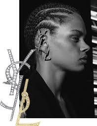 wearing ear cuffs logomania to wear the ysl ear cuff vogue
