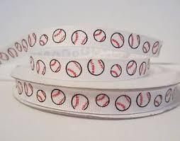 baseball ribbon grosgrain baseball 3 8 inch printed grosgrain ribbon 1 3 or 5