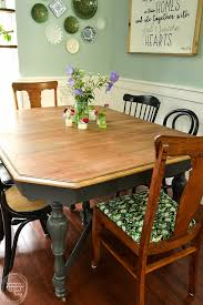 Farmhouse Dining Room Tables Refinished Farmhouse Dining Table Refresh Living