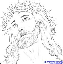tattoo sketches and drawings how to draw jesus step by step