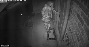 creepy clown in texas armed with knife caught on cctv u0027trying to