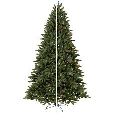 shop ge 7 5 ft pre lit frasier fir artificial tree with