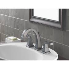Pewter Bathroom Faucet by Faucet Com 3551 Pt In Aged Pewter By Delta