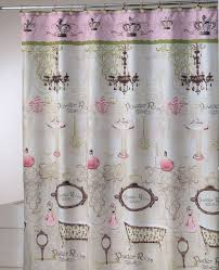 essential home vintage apothecary shower curtain