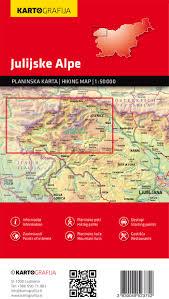 Alps On A Map Kartografija Hiking Map Julijske Alpe Julian Alps 1 50 000