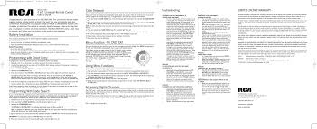 search rca remote control user manuals manualsonline com