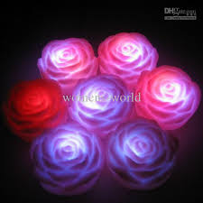 ful water induction shiny small floating led lights wishing