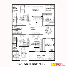 house plan for 50 feet by 65 feet plot plot size 361 square yards