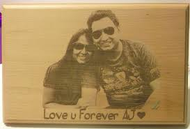 customized plaques with photo personalized engraved wooden photo plaque giftsmate