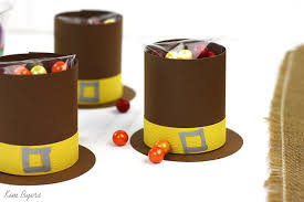 thanksgiving table easy braves pilgrims treat containers