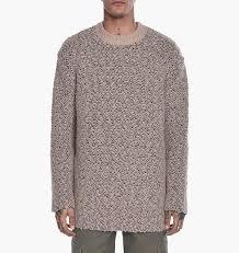 yeezy sweater yeezy oversized teddy boucle sweater brown knitwear