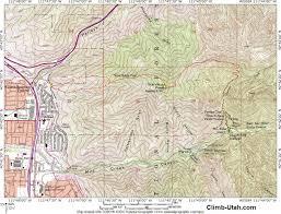 Utah Topo Maps by Mount Grandeur Wasatch Mountains Hiking