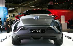 toyota new c hr frankfurt 2015 toyota c hr morphs towards production car design
