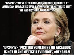 Hillary Clinton Benghazi Meme - hillary clinton on benghazi memes quickmeme