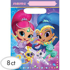 Birthday Favor Bags by Shimmer And Shine Plastic Favor Bags 8 Birthday Supplies
