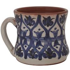 pottery coffee mugs for sale hourglass shape