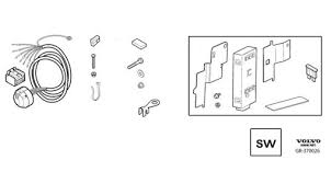 13 pin towbar wiring u0026 trailer module s40 u0026 v50 2005