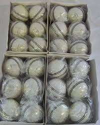 buy white leather cricket balls in box best prices in