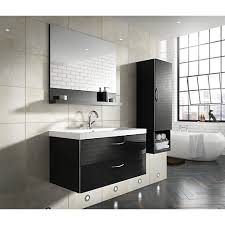 Wickes Bathroom Vanity Units Wickes Bientina Black Gloss Wall Hung Wall Unit 600 Mm Wickes