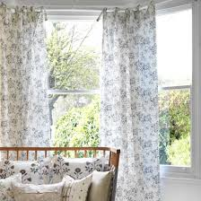 Tie Top Curtains How To Make Tie Top Curtains Craft Project Ideal Home