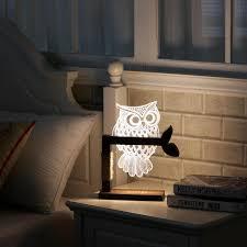 new year decoration 3d acrylic owl nightlight household bedroom