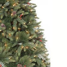 9 ft andes fir set slim artificial tree with 900