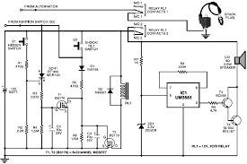 cheap motorcycle alarm electronic schematic diagram