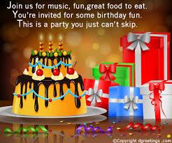 birthday invitation wording birthday invitation message text