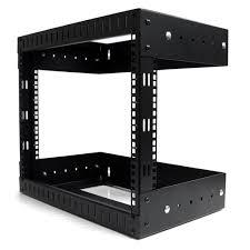 wall mount pdu amazon com startech com 8u open frame wall mount equipment rack