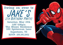 spiderman birthday invitations birthday party invitations